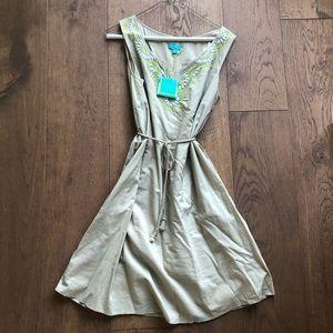 Calypso St. Barth for Target tan beaded dress